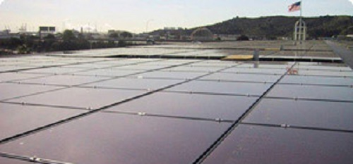 thin film solar panel array