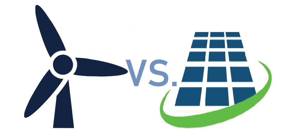 Wind turbines Versus Solar panels