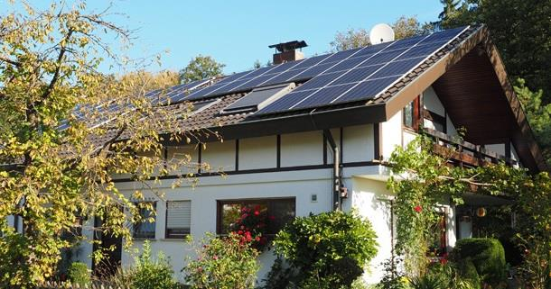 Solar-powered home