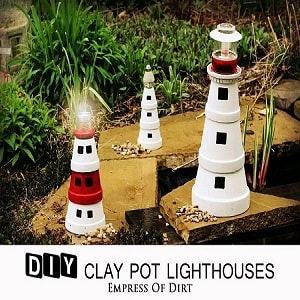 Clay Pots solar Lights