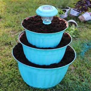 solar light flower pot