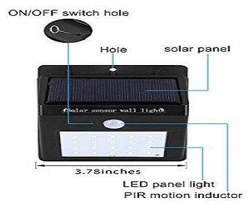 Solar Light with on/off switch
