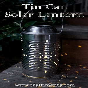 tin can solar lantern